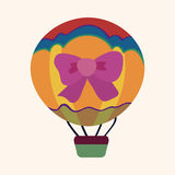 Hot air ballon design elements vector Stock Photos