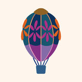 Hot air ballon design elements vector. Cartoon vector illustration Royalty Free Stock Photos