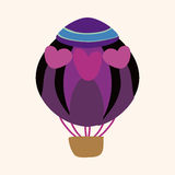 Hot air ballon design elements vector Royalty Free Stock Photo