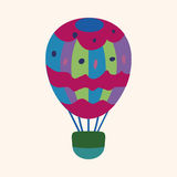 Hot air ballon design elements vector Stock Photography