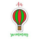 Hot air ballon fashion patch element Stock Photo