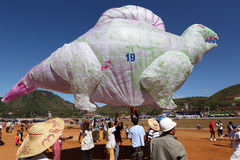 Hot-air ballon festival in Taunggyi, Myanmar (Burma) Royalty Free Stock Images