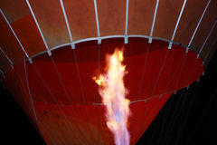 Hot air ballon light a fire Stock Photo