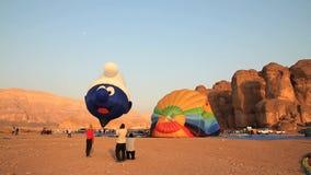 Hot air ballon mickey mouse shape stock footage