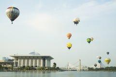 Hot air ballon at putrajaya Stock Photography