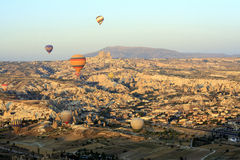 Hot Air Ballon Ride Over the Fairy Chimneys of Cappadocia Stock Photography