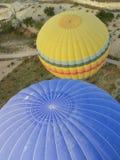 Hot air ballon in the sky. Hot air ballon high in the sky, Kapadokya Turkey stock image