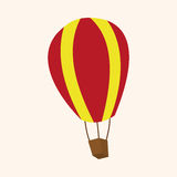 Hot air ballon theme elements vector,eps. Vector illustration file Royalty Free Stock Image
