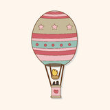 Hot air ballon theme elements vector,eps. Vector illustration file Royalty Free Stock Images