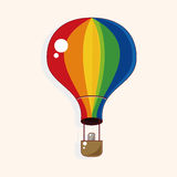 Hot air ballon theme elements vector,eps. Vector illustration file Royalty Free Stock Photo