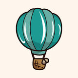 Hot air ballon theme elements vector,eps. Vector illustration file Stock Photo
