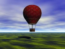Hot-air ballong stock illustrationer