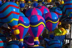Hot Air Ballons. Hot air balloon - toys and decorations Royalty Free Stock Image