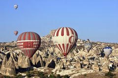Hot Air Ballons. In Cappadocia,Turkey Stock Images