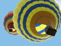 Hot Air Ballons. Hot air ballooning with beautiful blue sky Royalty Free Stock Photography