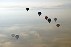 Hot Air Ballons in Cappadocia.Turkey. Stock Photos