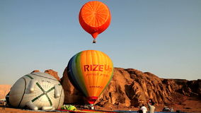 Hot air ballons stock footage