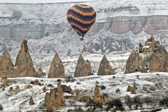 Hot Air Ballons flying in Cappadocia. royalty free stock images