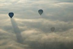 Hot Air Ballons flying in Cappadocia. Stock Photo
