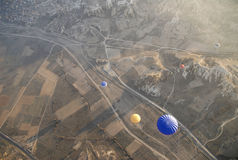 Hot Air Ballons flying on the sky of Cappadocia. Stock Photography