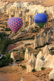 Hot Air Balloom Ride over Cappadocia Stock Image