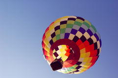 Hot air balloon. A hot air balloon in flight over Iowa during a balloon festival stock photos