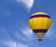 Hot Air Balloon. A 3D rendered hot air balloon in the sky Royalty Free Stock Photo