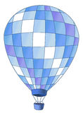 Hot air balloon. Drawing of beautiful hot air balloon in a white background Stock Images