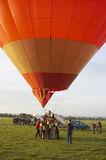 Hot air balloon. A hot air balloon,about to take off Stock Photography