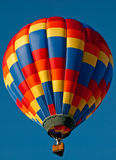 Hot air balloon. A multicolored hot air balloon Royalty Free Stock Photography