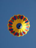 Hot-air balloon. Rainbow colour hot-air balloon from below Stock Photography