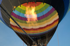 Hot air balloon. Colorful hot air  balloon with blue sky Stock Images