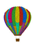 Hot air balloon. Colorful and fluffy hot air balloon Royalty Free Illustration