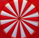 Hot air balloon. Red and white hot air ballon detail Stock Photos
