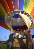 Hot Air Balloon 2. Inflation of a hot air balloon royalty free stock images