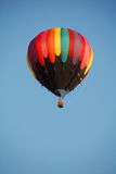 Hot Air Balloon 2. Colorful hot air balloon against a bright blue sky stock photo
