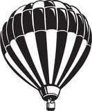 Hot Air Balloon. Line Art Illustration of a Hot Air Balloon Royalty Free Stock Images