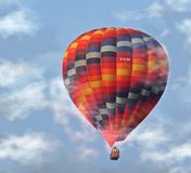 Hot-Air Balloon. Picture of a flying hot-air ballon royalty free stock images