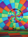 Hot Air Balloon. Inside the canopy of a hot air balloon stock images