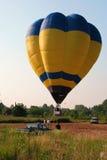 Hot-air balloon. Colored hot-air ballon taking off Stock Photography