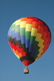 Hot Air Balloon. Colorful hot air balloon waiting to take off into the sky stock photo