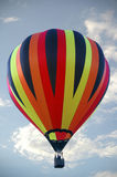Hot Air Balloon. Closeup of colorful hot air balloon against the blue summer sky royalty free stock photography