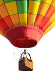 Hot air balloon. Isolated on white Royalty Free Stock Photography