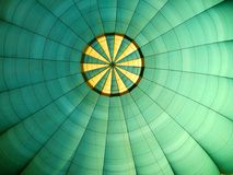 Hot air balloon. The inside of a hot air balloon Royalty Free Stock Photo