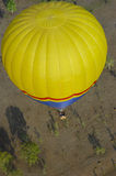 Hot Air Balloon. Photograph of a hot air balloon over the Australian outback stock images