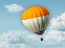 Hot air balloon. Businessman flying in an hot air balloon. Digital illustration Stock Photos