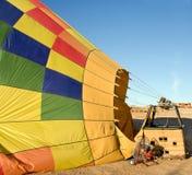Hot air balloon. On the ground Stock Photo