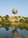 Hot air balloon. Festival,The colors on the fabric of a Stock Image