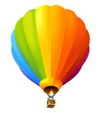 Hot air balloon. Vector colorful hot air balloon Royalty Free Stock Photography