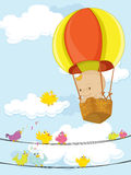 Hot air balloon. Illustration of a hot air balloon Stock Images